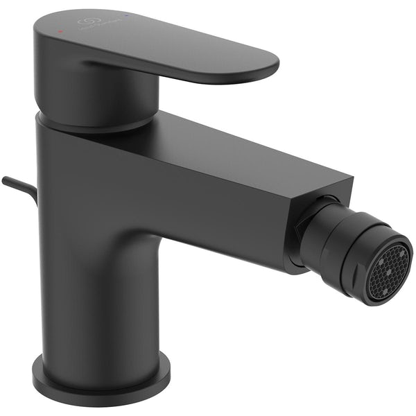 Ideal Standard Cerafine O silk black black bidet mixer tap with waste