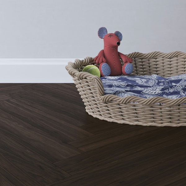 Malmo LVT Herringbone Otta embossed stick down flooring 2.5mm