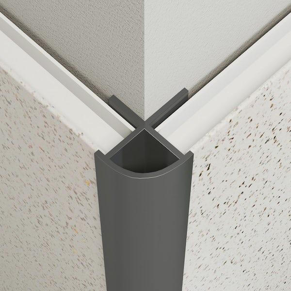 Multipanel Economy type W grey external corner profile