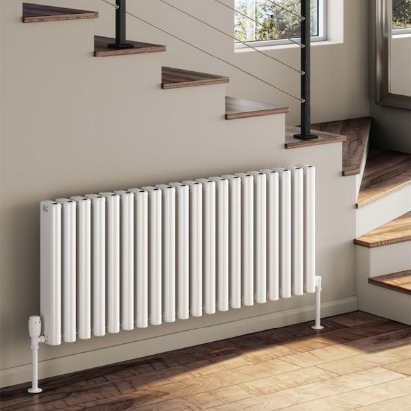 Reina Alco white horizontal aluminium designer radiator