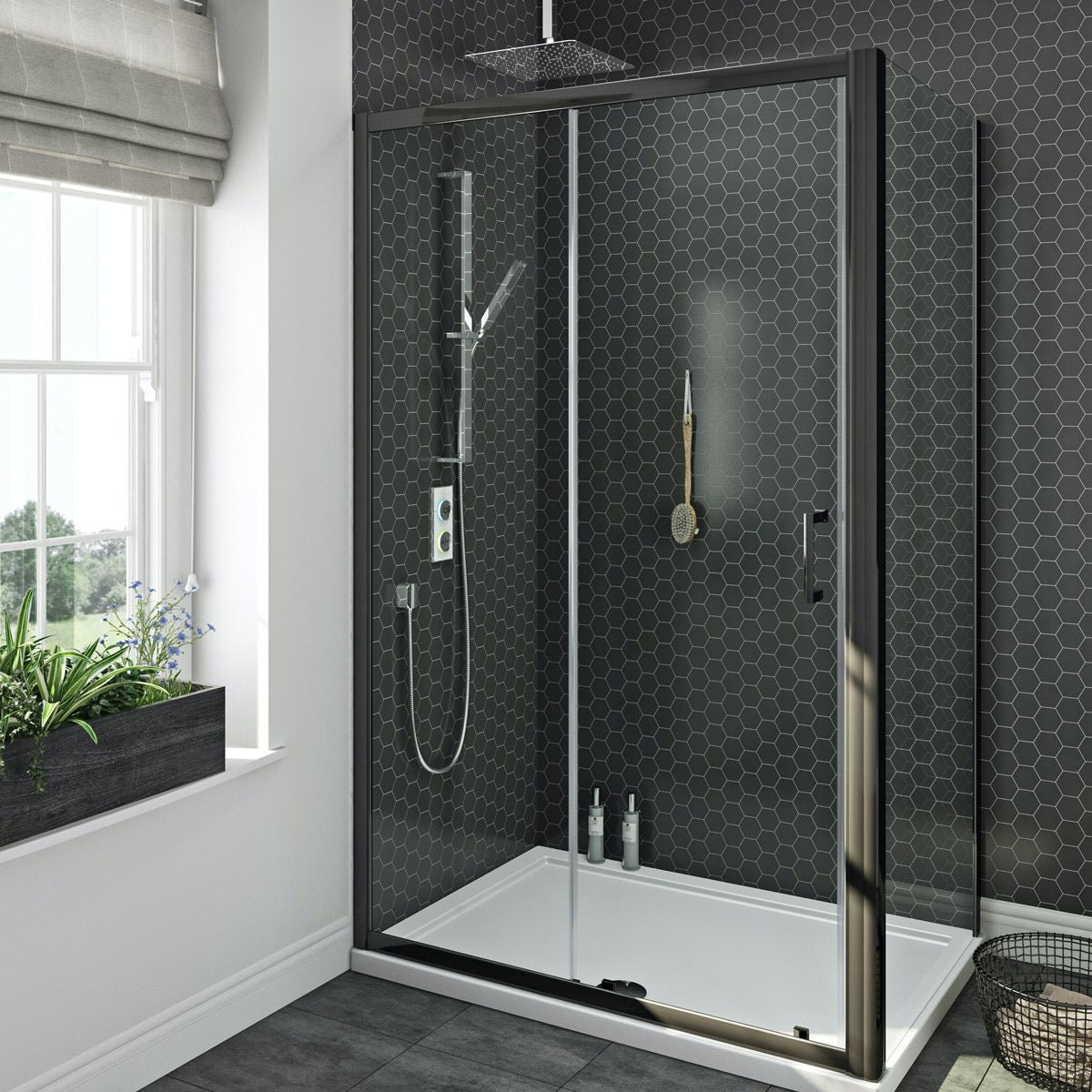 Smartap White Smart Shower System With Mode Black Shower Enclosure 1200 X 800 Victoriaplum Com