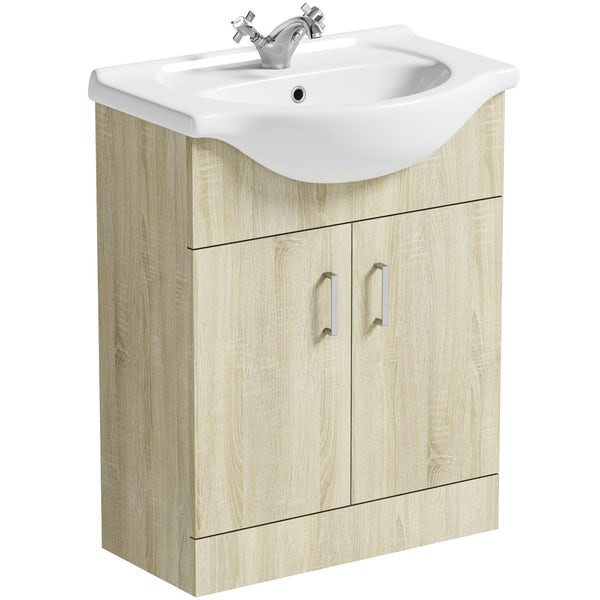 Orchard Eden oak vanity unit and basin 650mm