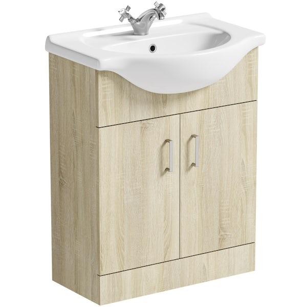 Orchard Eden oak vanity unit and basin 650mm