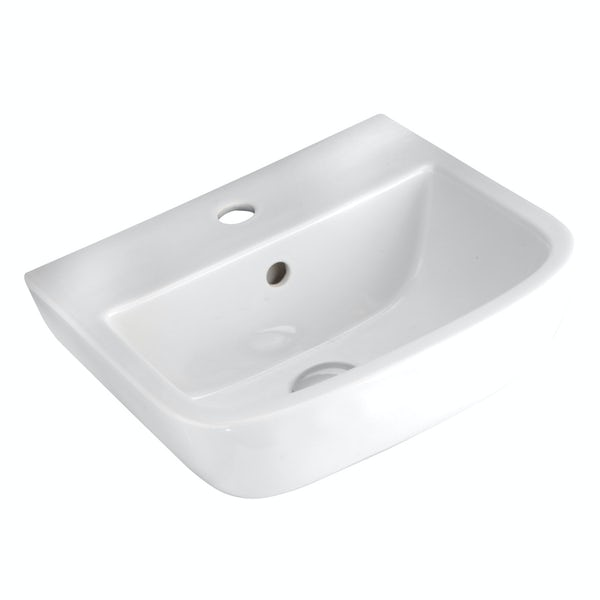 RAK Series 600 1 tap hole wall hung basin 400mm