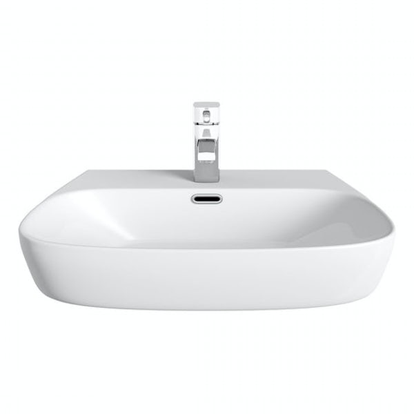 Mode Foster 1 tap hole semi recessed countertop basin 600mm with tap