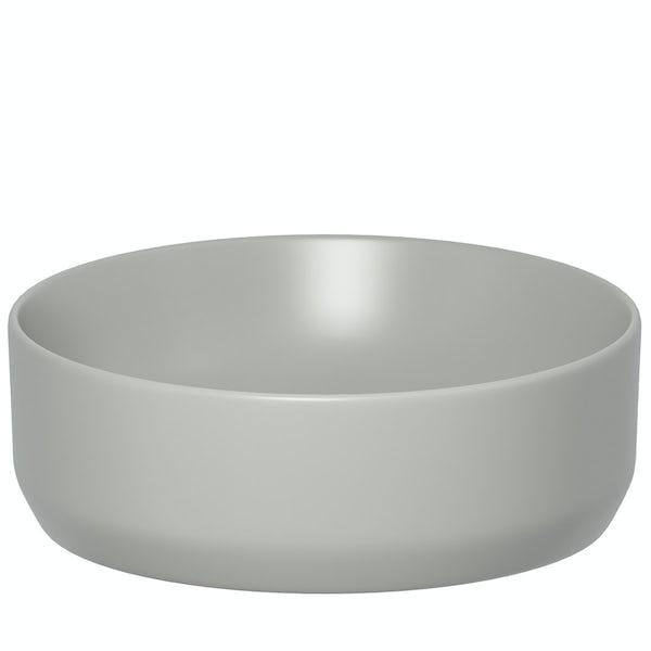 Mode Orion grey countertop basin 355mm