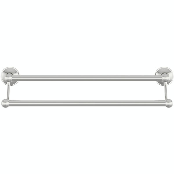 Accents round tradtional double towel bar 450mm