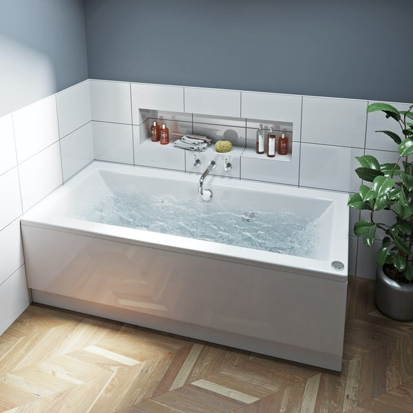Mode Chelsea double end 12 jet whirlpool bath 1700 x 750
