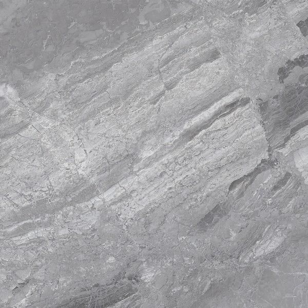 Fusion grey marble effect matt wall and floor tile 600mm x 600mm