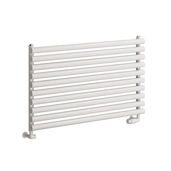 Reina Nevah white single horizontal steel designer radiator