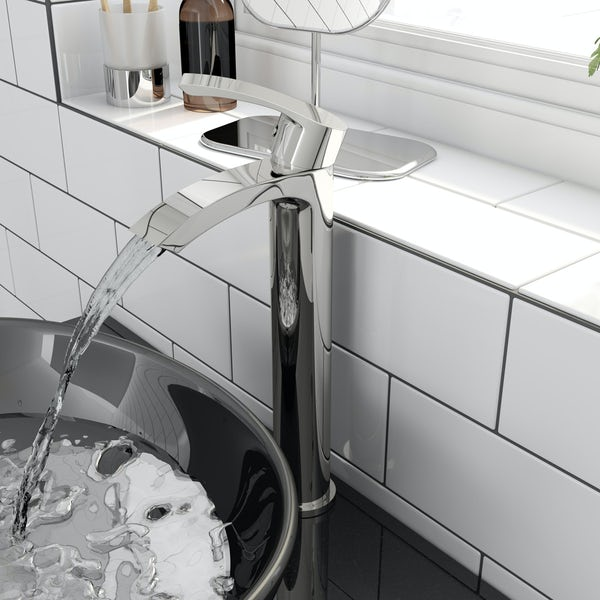 Orchard Derwent round high rise basin mixer tap