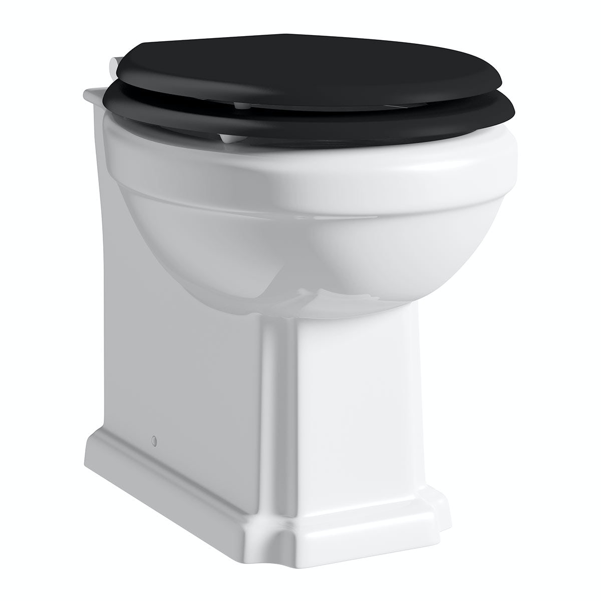The Bath Co Dulwich Back To Wall Toilet With Black Wooden Soft