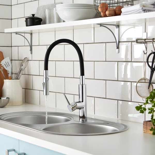 Bristan Gallery Flex single lever kitchen mixer tap with flexible spout