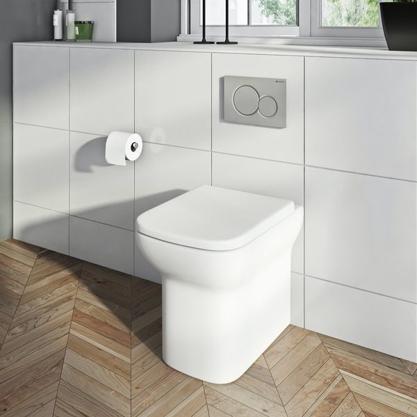 Orchard Lune rimless back to wall toilet with soft close seat