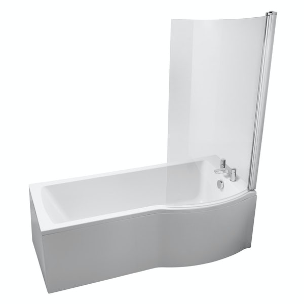 Ideal Standard Tempo right handed shower bath with bath screen and front panel 1700 x 800