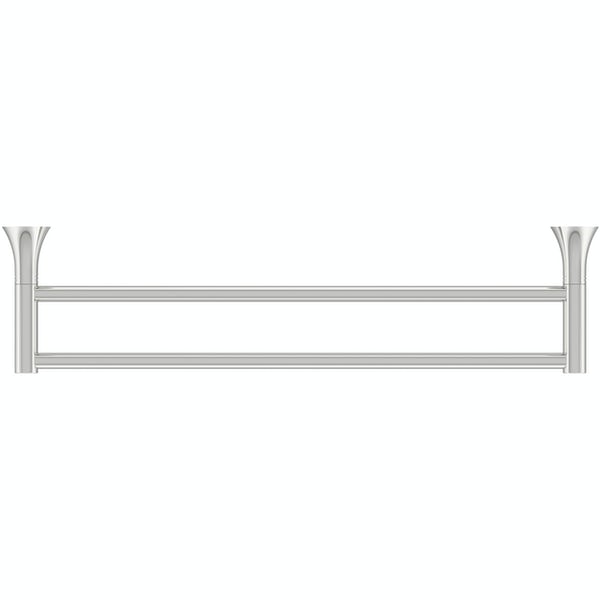 Accents round contemporary double towel bar 450mm