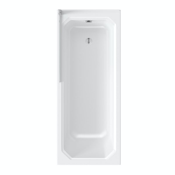 The Bath Co. Camberley 1700 x 700 shower bath with 6mm curved single screen