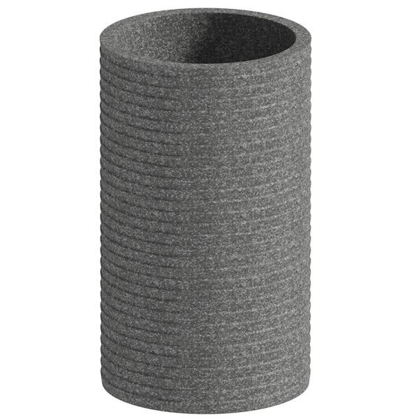 Accents Bora Bora grey ceramic 3 piece bathroom set