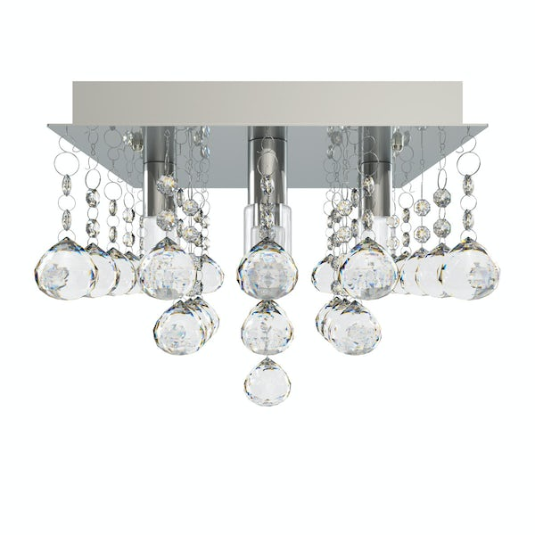 Forum ora square flush bathroom ceiling light