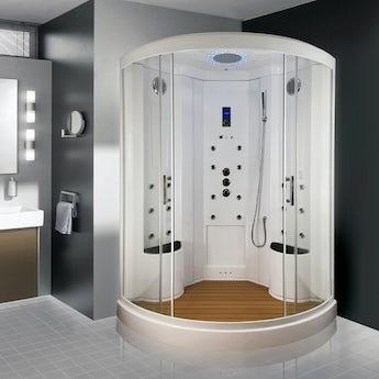 Insignia quadrant steam shower cabin 1350 x 1350