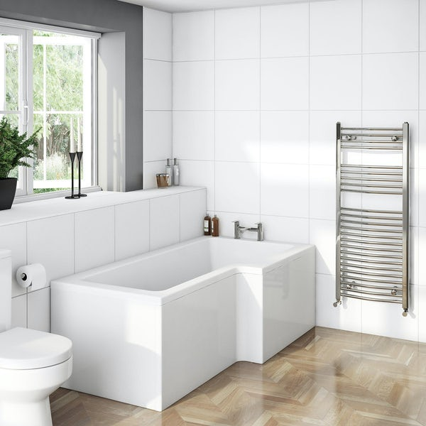 Orchard L shaped right handed shower bath