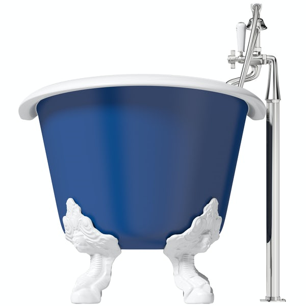 Artist Collection Midnight Blue traditional freestanding bath & tap pack