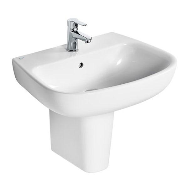 Ideal Standard Studio Echo 1 tap hole semi pedestal basin 600mm