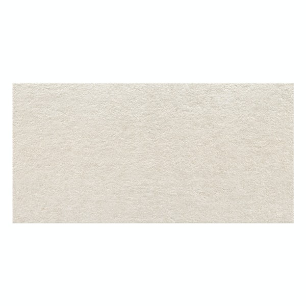Fontana light grey flat stone effect matt wall tile 300mm x 600mm