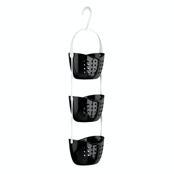 Black 3 tier hanging shower caddy