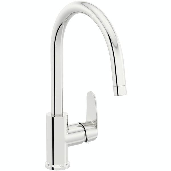 Schon Tresco Plus chrome single lever kitchen mixer tap
