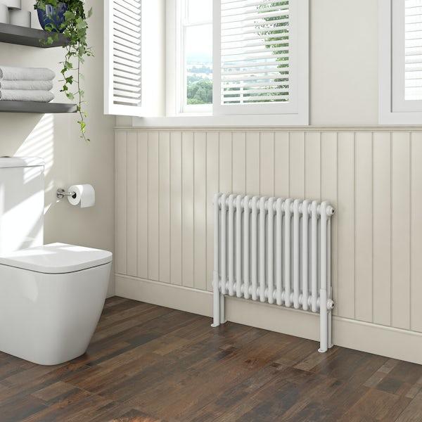 The Bath Co. Camberley white 2 column radiator