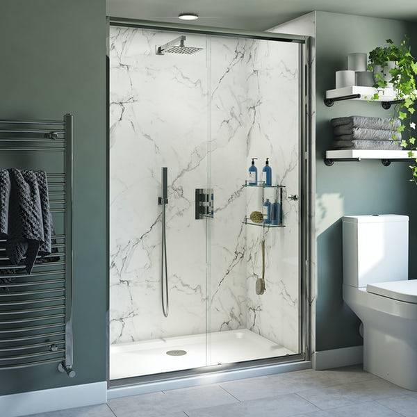 Clarity 4mm shower door with lightweight tray