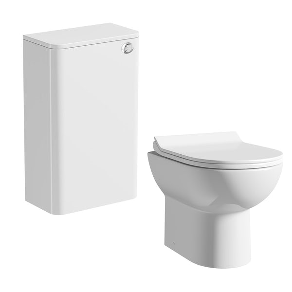 Mode Ellis white back to wall toilet unit and Eden contemporary toilet with seat