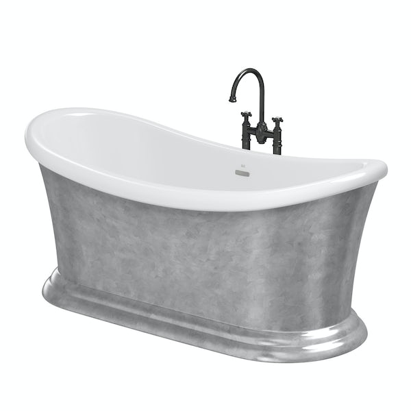 Belle de Louvain Charlet freestanding bath and tap pack