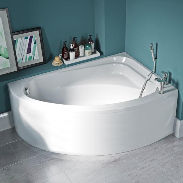 Orchard Elsdon right handed offset corner bath with panel 1500mm
