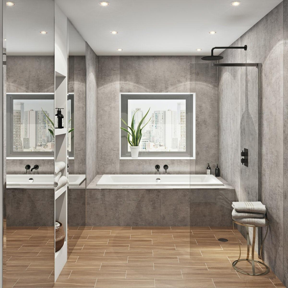 Multipanel Linda Barker Concrete Elements Hydrolock shower ...