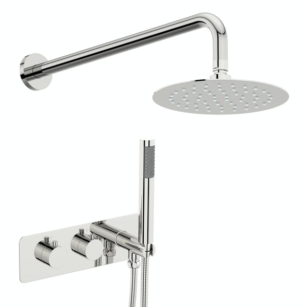 Mode Harrison round concealed thermostatic mixer shower with wall arm