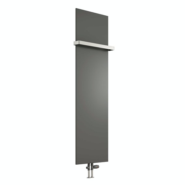 Reina Slimline anthracite grey vertical steel designer radiator
