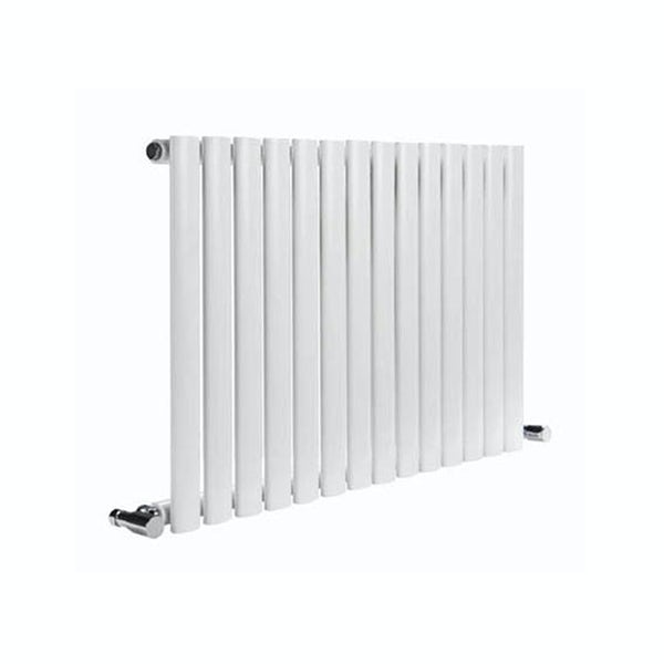 Reina Neva white single horizontal steel designer radiator