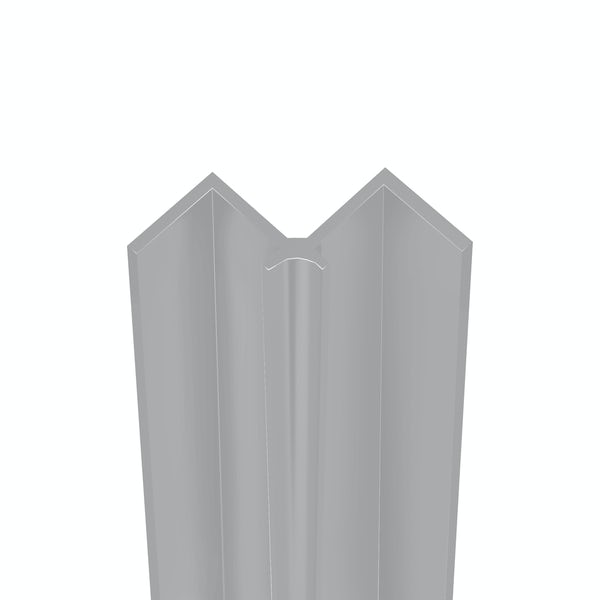 Showerwall Satin Silver internal corner profile for waterproof wall panels