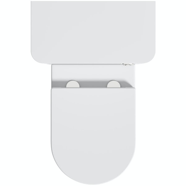 Mode Carter white back to wall unit and contemporary toilet with soft close seat