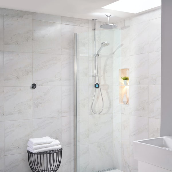 Aqualisa Optic Q Smart exposed shower with adjustable handset and ceiling head
