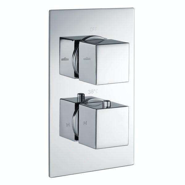 Kirke Connect twin thermostatic shower valve with diverter