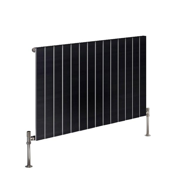 Reina Flat anthracite grey horizontal single panel steel designer radiator