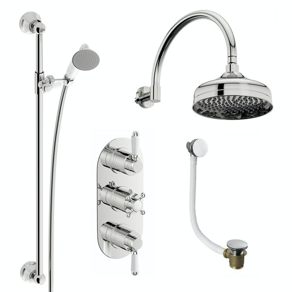Coniston Complete Thermostatic Shower Bath Set
