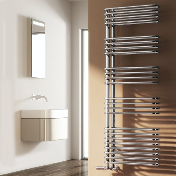 Reina Borgo chrome steel designer radiator