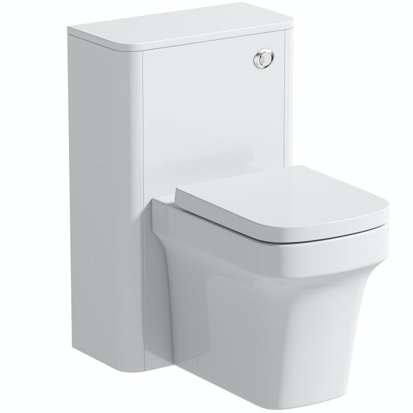 Mode Carter white back to wall unit and toilet with soft close seat
