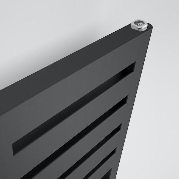 Terma Salisbury metallic black designer towel rail