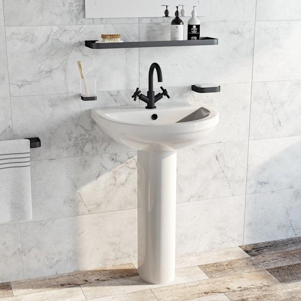 Mode Tate black basin mixer tap