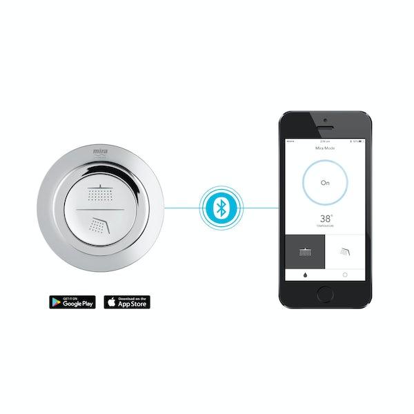 Mira Mode dual ceiling fed digital shower standard